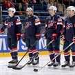 MINSK, BELARUS - MAY 22: Team USA stands on the blue line before facing off against Team Czech Republic during quarterfinal round action at the 2014 IIHF Ice Hockey World Championship. (Photo by Richard Wolowicz/HHOF-IIHF Images)